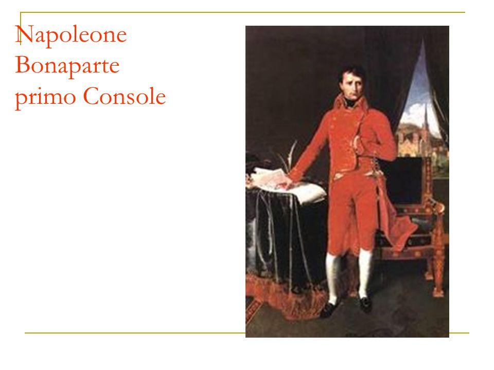 Napoleone Bonaparte primo Console
