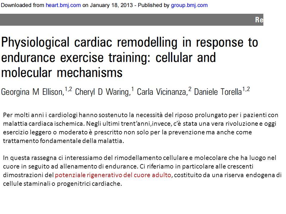 Per molti anni i cardiologi hanno sostenuto la necessità del riposo prolungato per i pazienti con malattia cardiaca ischemica. Negli ultimi trentanni,