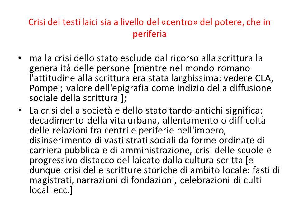 Fonti cronistiche e narrative Committenza ufficiale da parte del comune Caffaro e gli Annali Prospettiva cittadina In Italia, comparativamente alla ricchezza della tradizione, studi abbastanza tardi e radi NOTAI CRONISTI G.