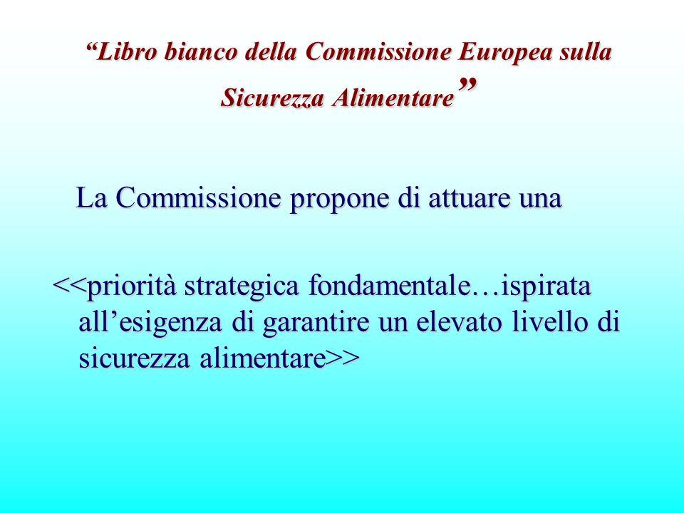 La Commissione propone di attuare una La Commissione propone di attuare una > > Libro bianco della Commissione Europea sulla Sicurezza Alimentare Libr