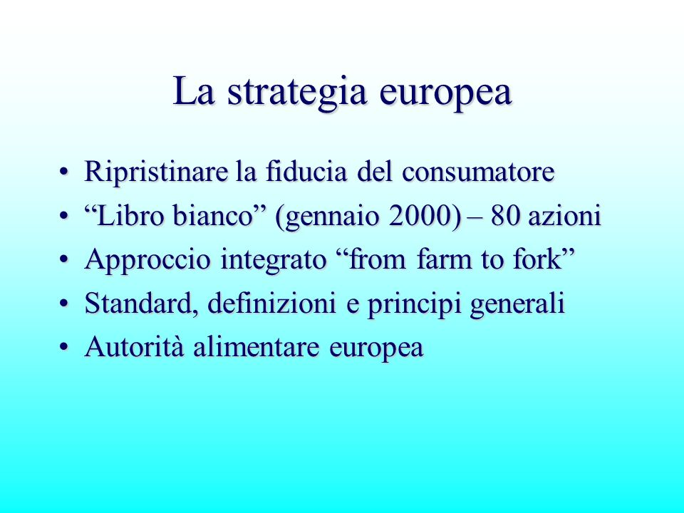 Strategia incentrata su 5 Elementi Chiave 1.
