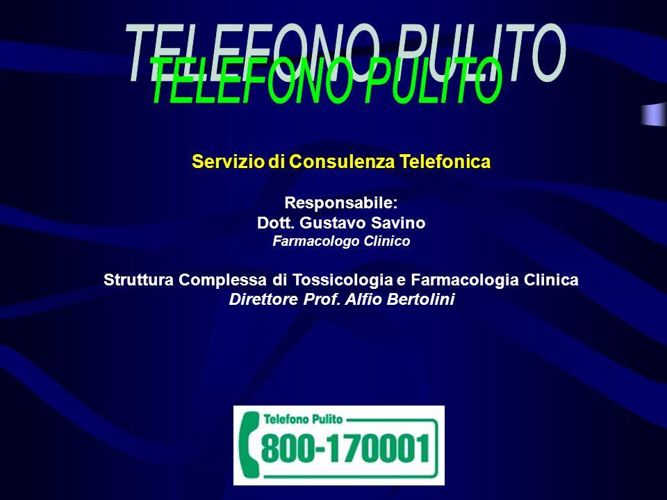 TELEFONO PULITO 800-170001 Cosè.
