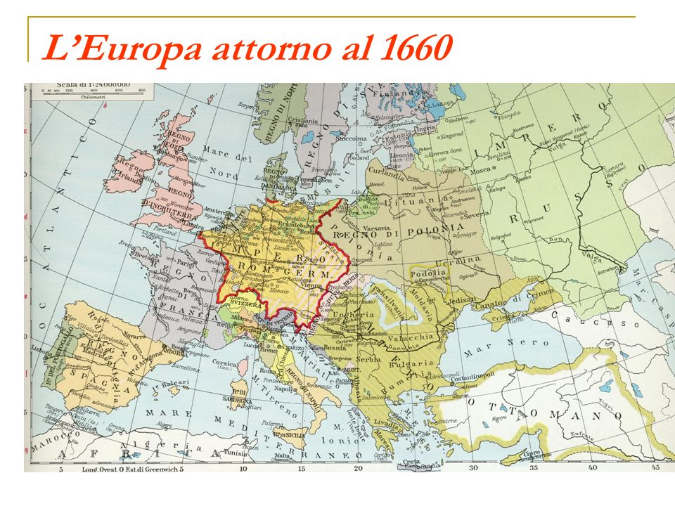 LEuropa attorno al 1660