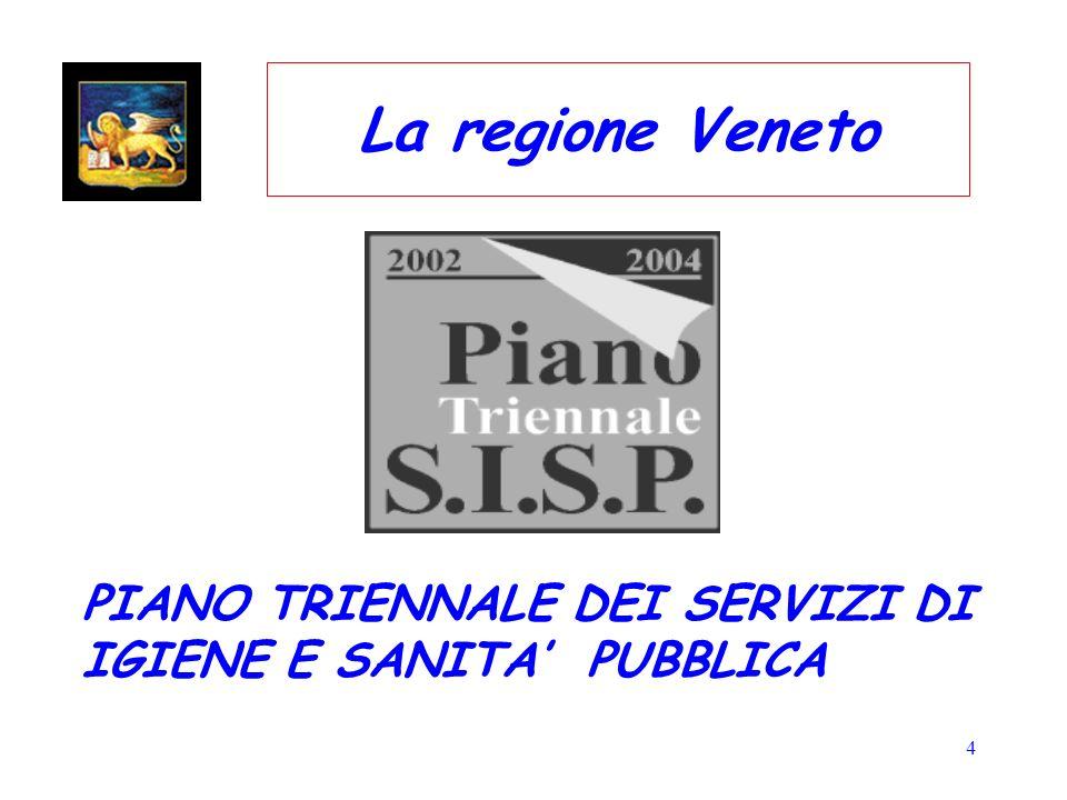 4 La regione Veneto PIANO TRIENNALE DEI SERVIZI DI IGIENE E SANITA PUBBLICA