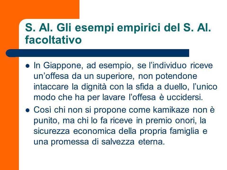 S.Al. Gli esempi empirici del S. Al.