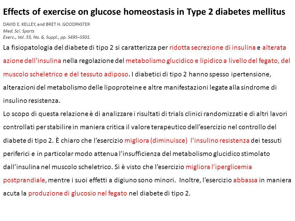 I risultati di studi prospettici indicano chiaramente che un aumento dellattività fisica previene o per lo meno ritarda lo sviluppo del diabete di tipo 2 negli adulti.