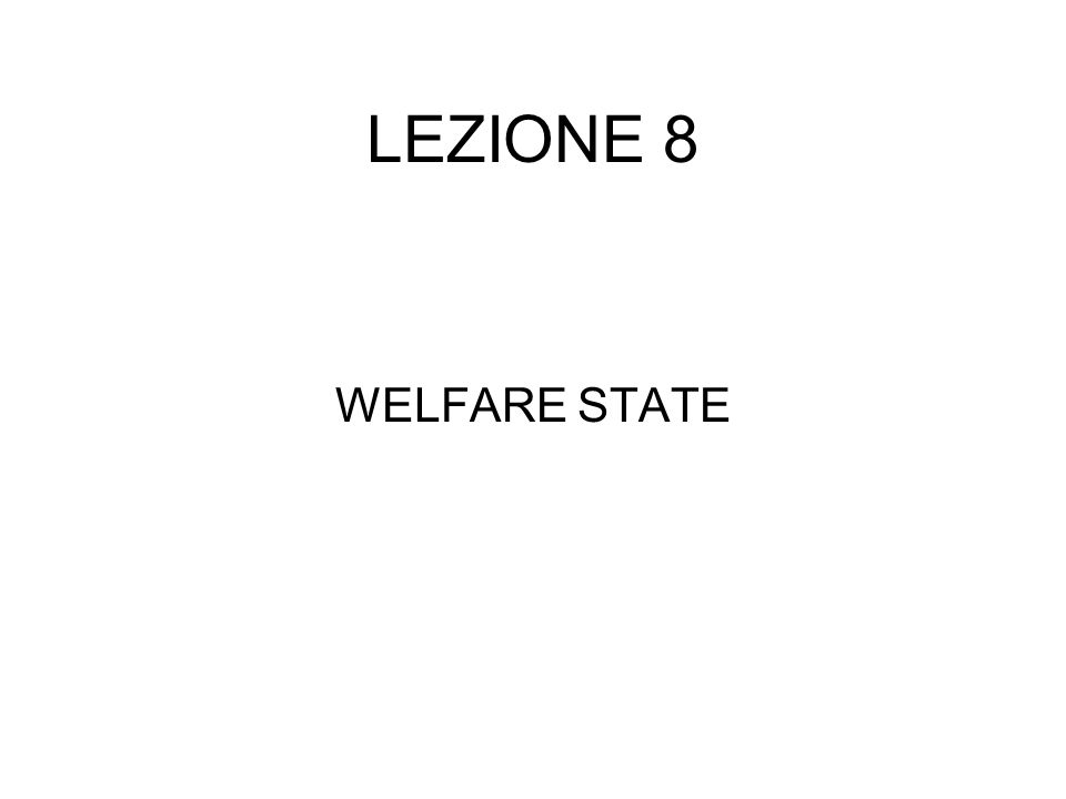 CONTENUTI DELLA LEZIONE 1)Strumenti 2)Forme di finanziamento delle spese di WS 3)Modalità di fornitura delle prestazioni di WS 4)Teorie economiche che giustificano lintervento pubblico nella sicurezza sociale 5)Un quadro della spesa per WS in Italia