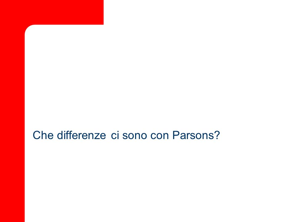 Che differenze ci sono con Parsons?