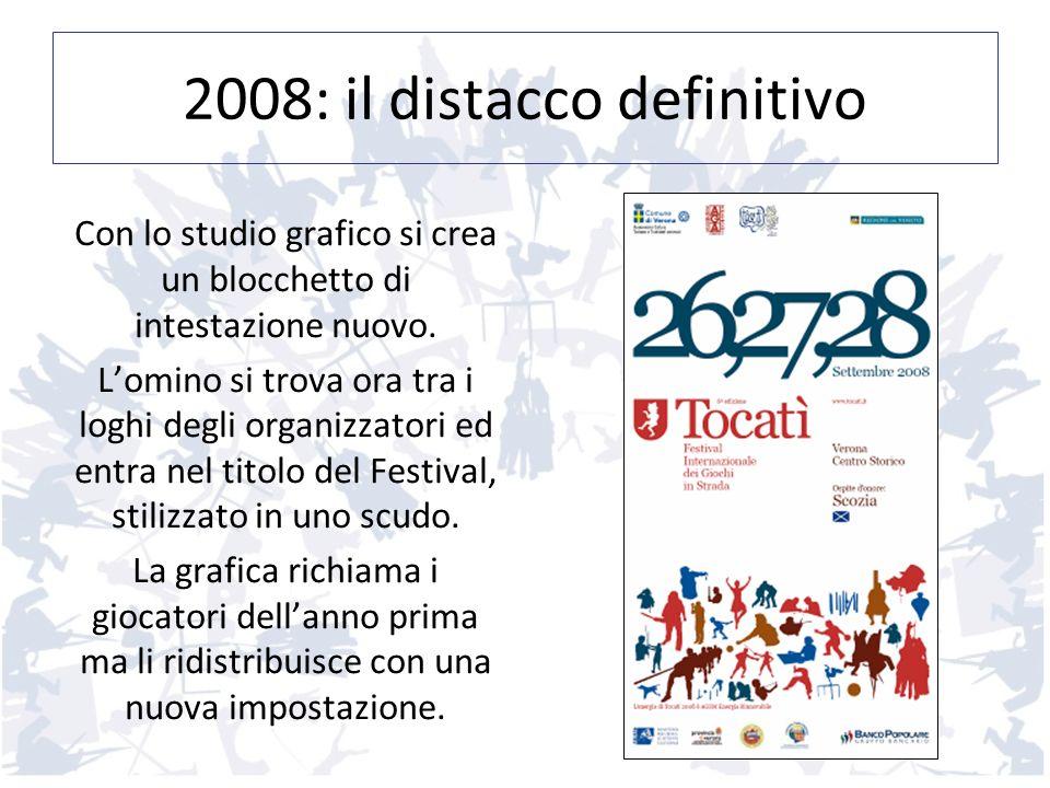 2008: il distacco definitivo Con lo studio grafico si crea un blocchetto di intestazione nuovo. Lomino si trova ora tra i loghi degli organizzatori ed