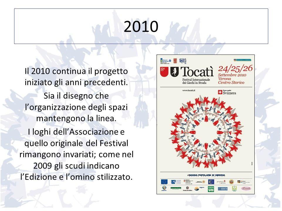 2010 Il 2010 continua il progetto iniziato gli anni precedenti. Sia il disegno che lorganizzazione degli spazi mantengono la linea. I loghi dellAssoci