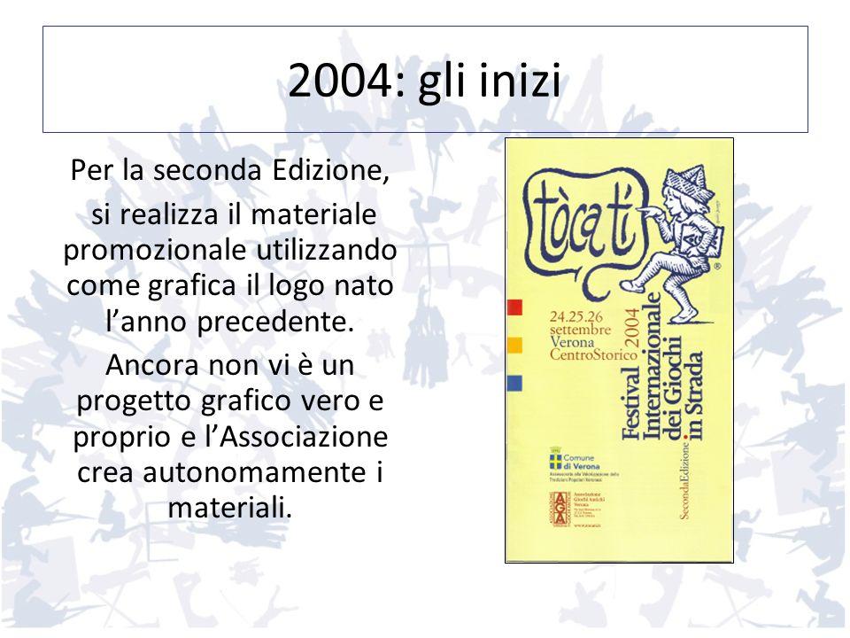 2004: gli inizi Per la seconda Edizione, si realizza il materiale promozionale utilizzando come grafica il logo nato lanno precedente. Ancora non vi è