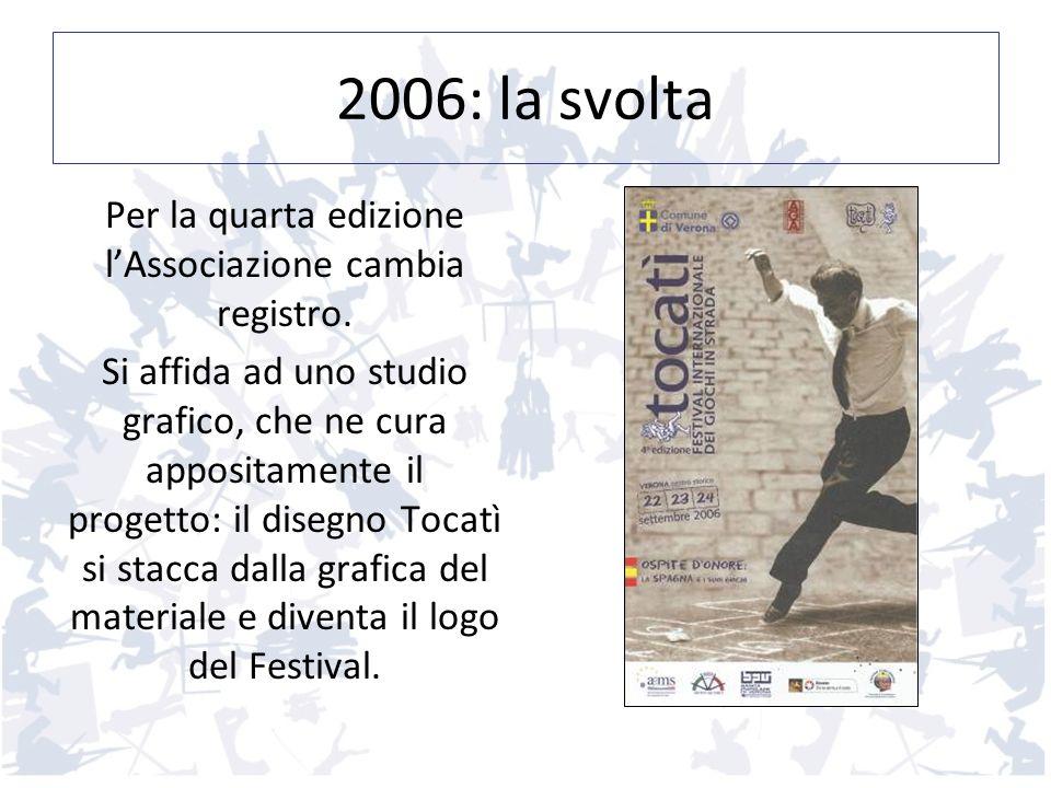 2006: la svolta Per la quarta edizione lAssociazione cambia registro. Si affida ad uno studio grafico, che ne cura appositamente il progetto: il diseg