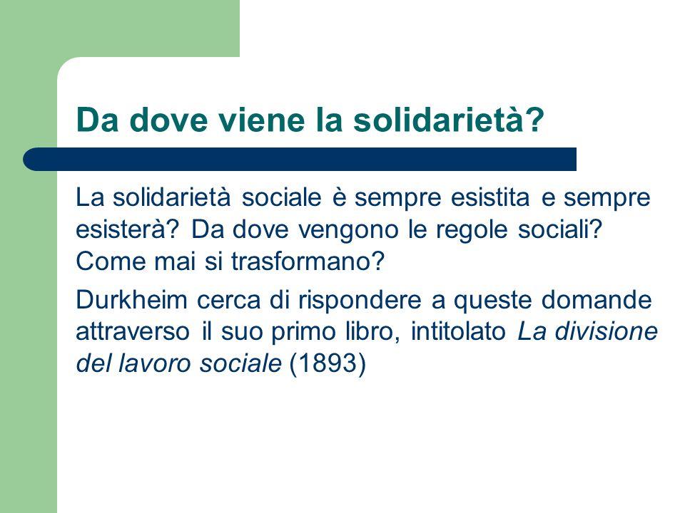 Da dove viene la solidarietà? La solidarietà sociale è sempre esistita e sempre esisterà? Da dove vengono le regole sociali? Come mai si trasformano?