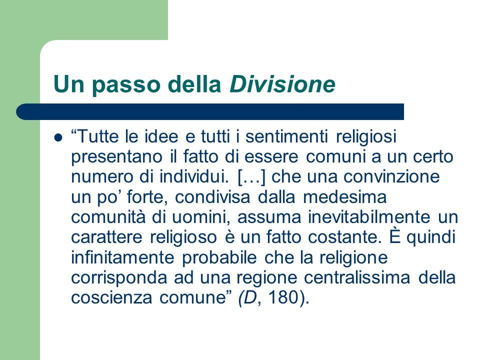 Un passo della Divisione Tutte le idee e tutti i sentimenti religiosi presentano il fatto di essere comuni a un certo numero di individui. […] che una