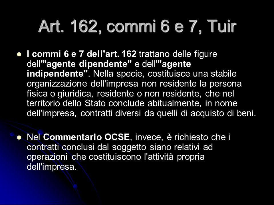 Art. 162, commi 6 e 7, Tuir I commi 6 e 7 dell'art. 162 trattano delle figure dell'