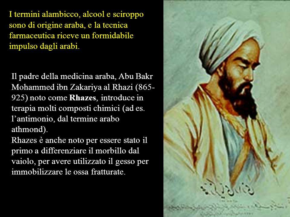 E dalla cultura araba che nasce lalchimia (i primi scritti appaiono in Egitto intorno al 180) che viene poi diffusa in Occidente. Lalchimia è una prat