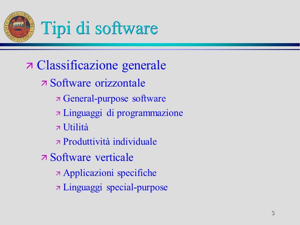 4 Software di uso generale ä Sistemi operativi ä Ambienti operativi