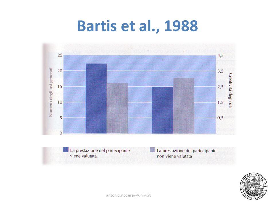 Bartis et al., 1988 antonio.nocera@univr.it