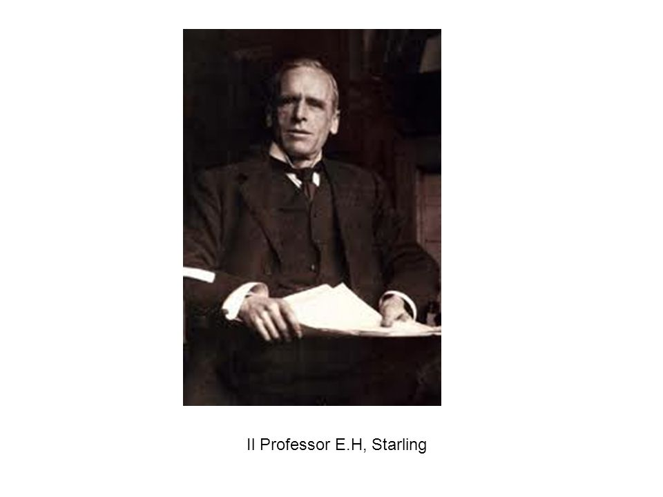 Il Professor E.H, Starling