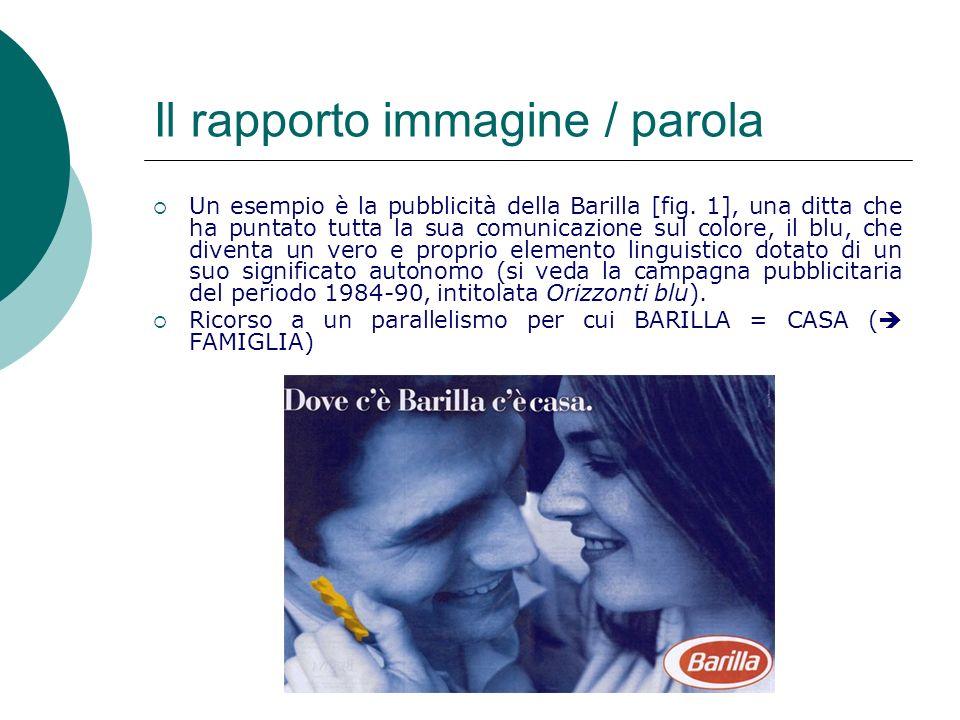 Un esempio è la pubblicità della Barilla [fig.