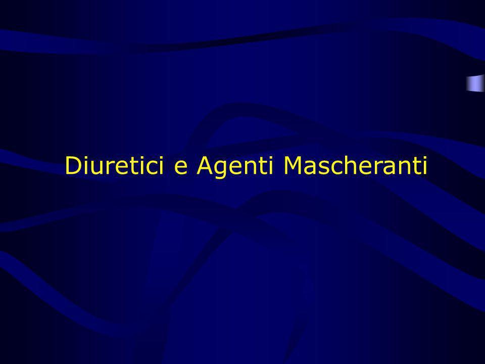 Diuretici e Agenti Mascheranti