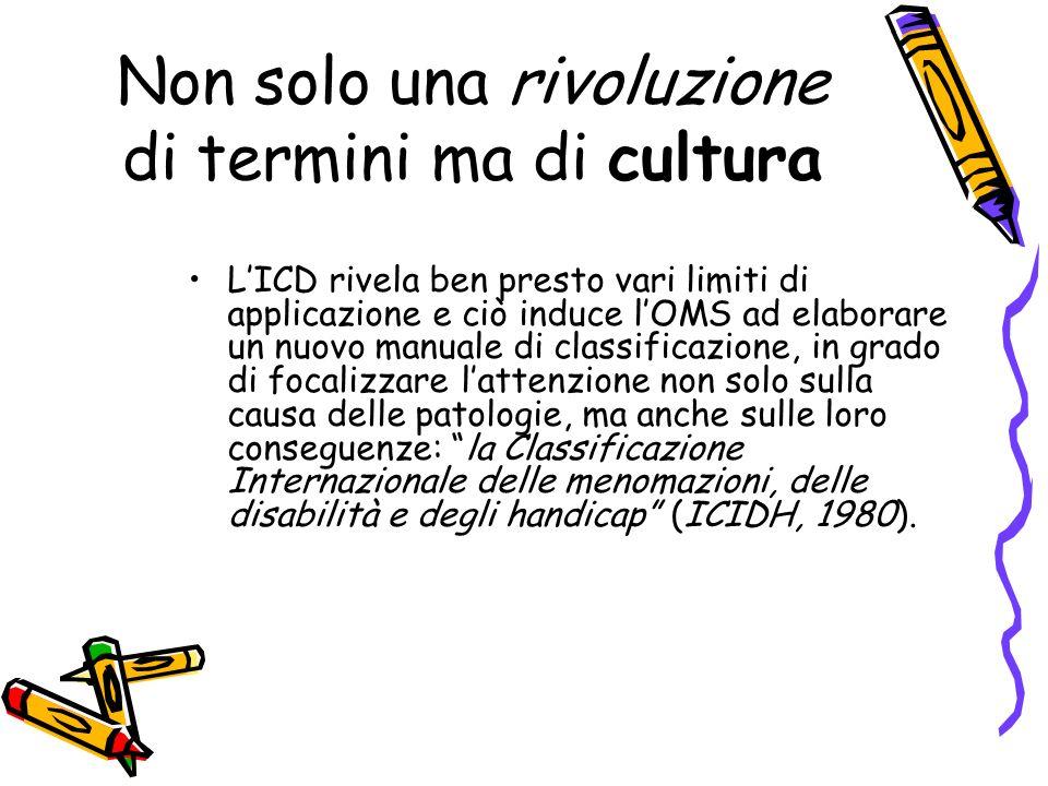 Non solo una rivoluzione di termini ma di cultura LICD rivela ben presto vari limiti di applicazione e ciò induce lOMS ad elaborare un nuovo manuale d