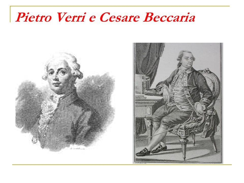 Pietro Verri e Cesare Beccaria
