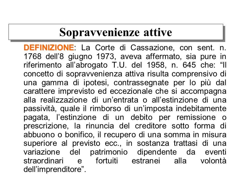 DEFINIZIONE DEFINIZIONE: La Corte di Cassazione, con sent. n. 1768 dell8 giugno 1973, aveva affermato, sia pure in riferimento allabrogato T.U. del 19