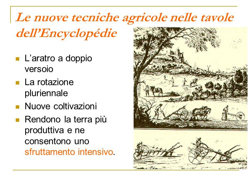 Le nuove tecniche agricole nelle tavole dellEncyclopédie Laratro a doppio versoio La rotazione pluriennale Nuove coltivazioni Rendono la terra più pro