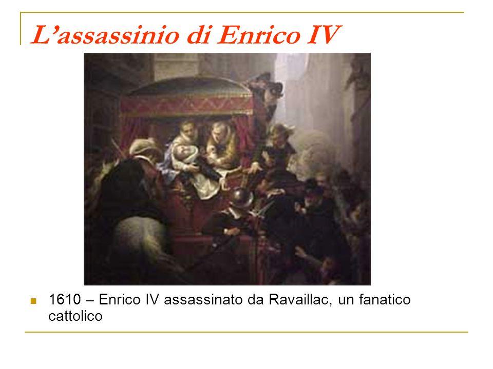 Lassassinio di Enrico IV 1610 – Enrico IV assassinato da Ravaillac, un fanatico cattolico
