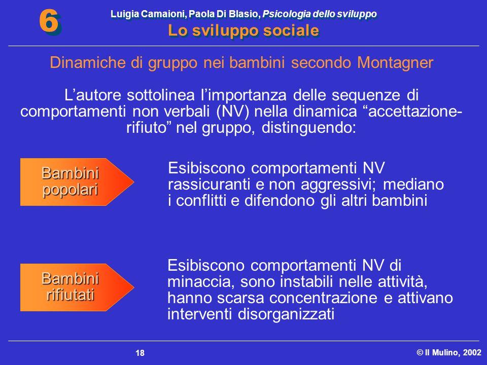 Luigia Camaioni, Paola Di Blasio, Psicologia dello sviluppo Lo sviluppo sociale © Il Mulino, 2002 6 6 18 Lautore sottolinea limportanza delle sequenze