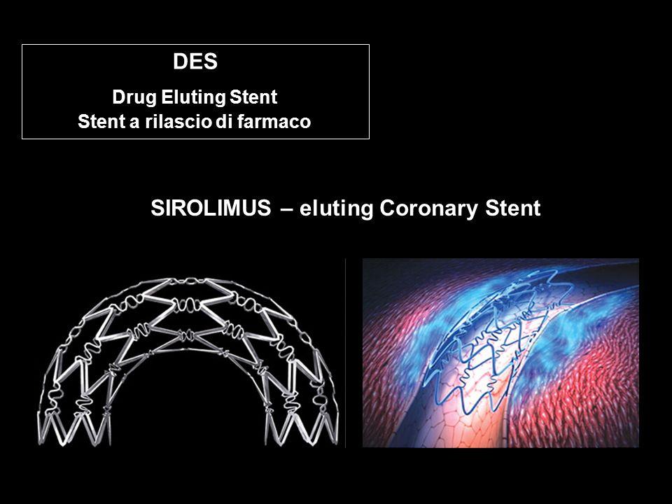 < SIROLIMUS – eluting Coronary Stent DES Drug Eluting Stent Stent a rilascio di farmaco