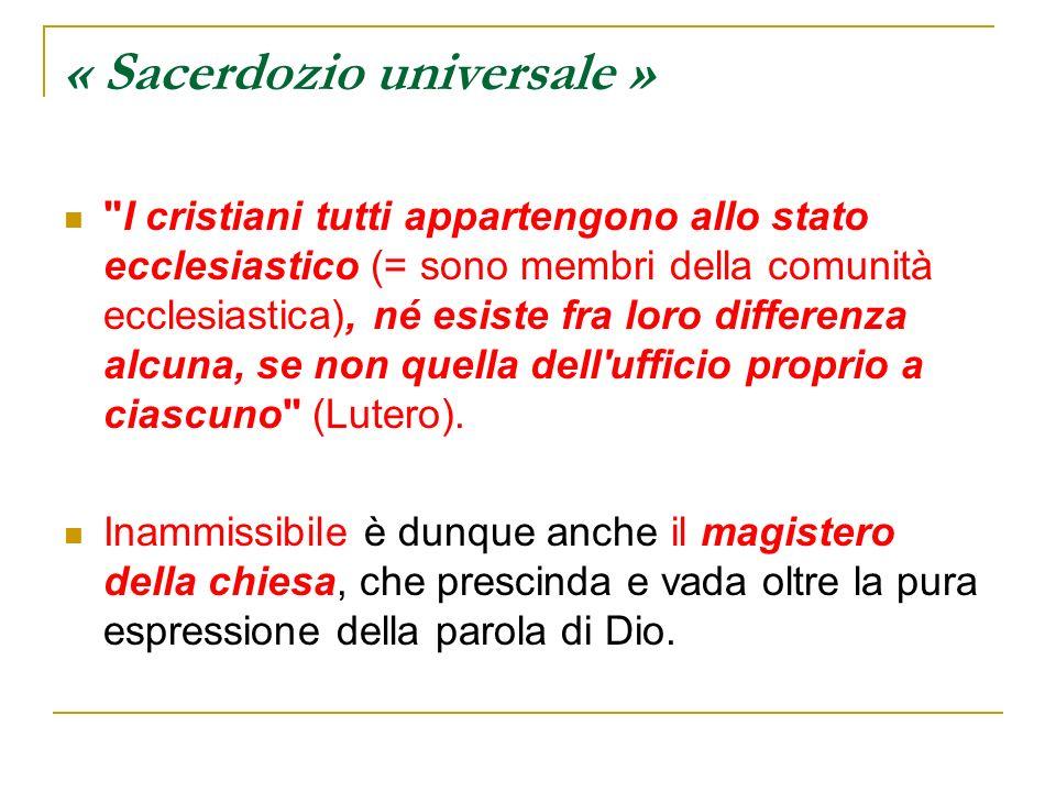 « Sacerdozio universale »
