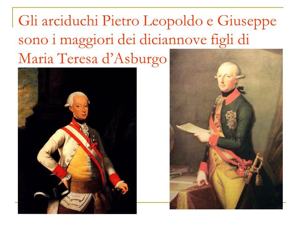 Gli arciduchi Pietro Leopoldo e Giuseppe sono i maggiori dei diciannove figli di Maria Teresa dAsburgo