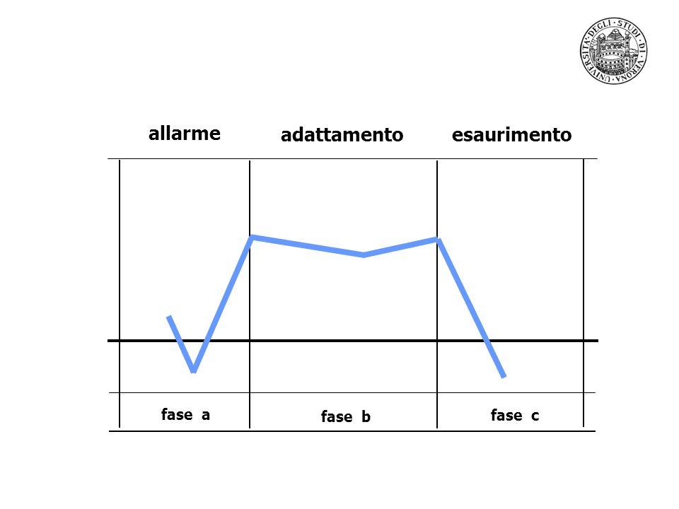 fase a fase b fase c allarme adattamentoesaurimento