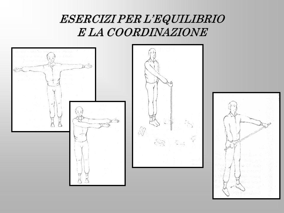 ESERCIZI PER LEQUILIBRIO E LA COORDINAZIONE