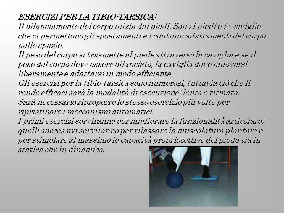 ESERCIZI PER LA TIBIO-TARSICA: Il bilanciamento del corpo inizia dai piedi. Sono i piedi e le caviglie che ci permettono gli spostamenti e i continui