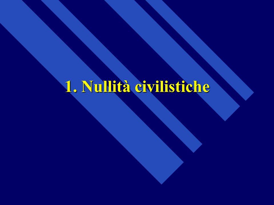 1. Nullità civilistiche