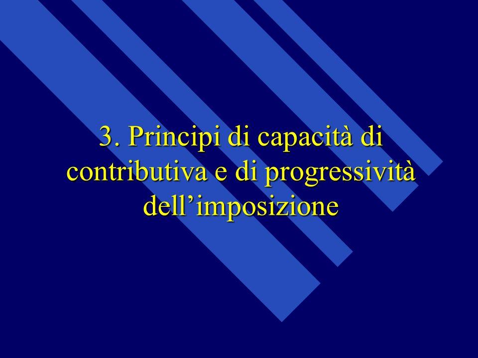 3. Principi di capacità di contributiva e di progressività dellimposizione