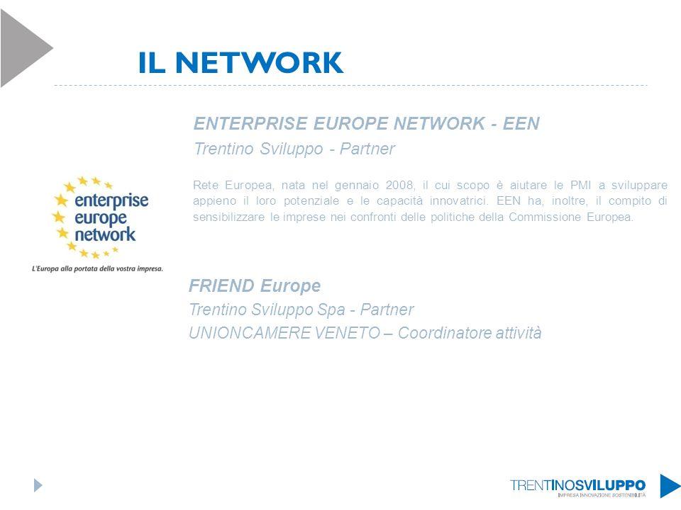 ENTERPRISE EUROPE NETWORK - EEN Trentino Sviluppo - Partner Rete Europea, nata nel gennaio 2008, il cui scopo è aiutare le PMI a sviluppare appieno il