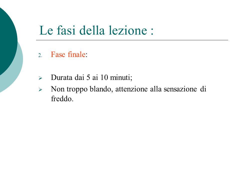 Le fasi della lezione : 2.