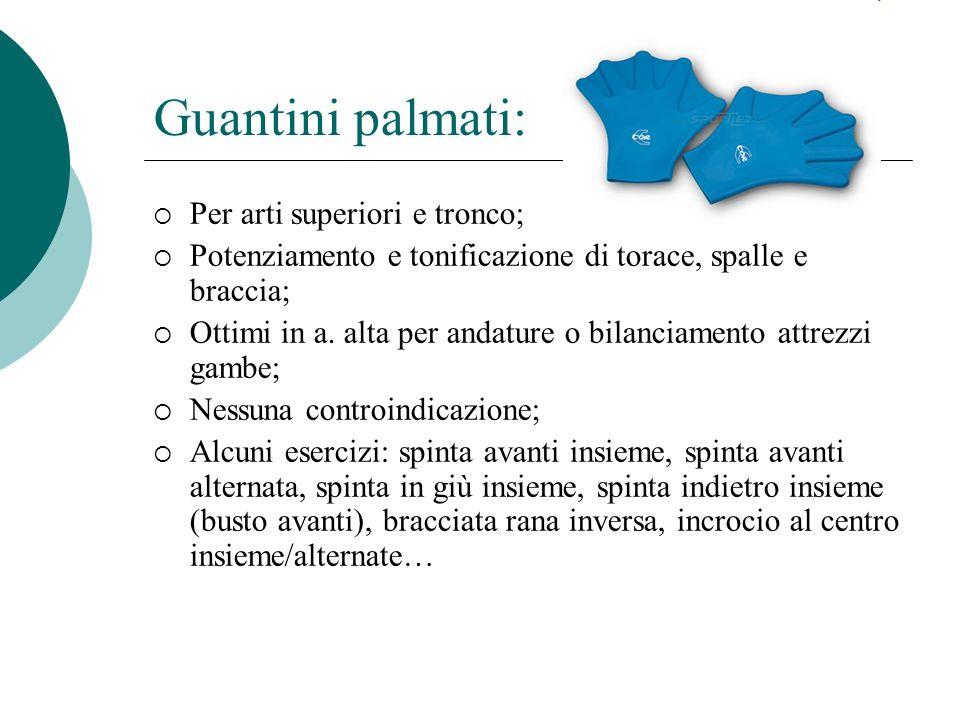 Guantini palmati: Per arti superiori e tronco; Potenziamento e tonificazione di torace, spalle e braccia; Ottimi in a.