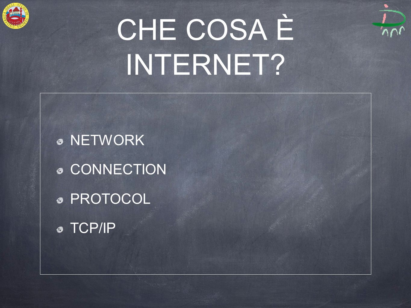 CHE COSA È INTERNET? NETWORK CONNECTION PROTOCOL TCP/IP