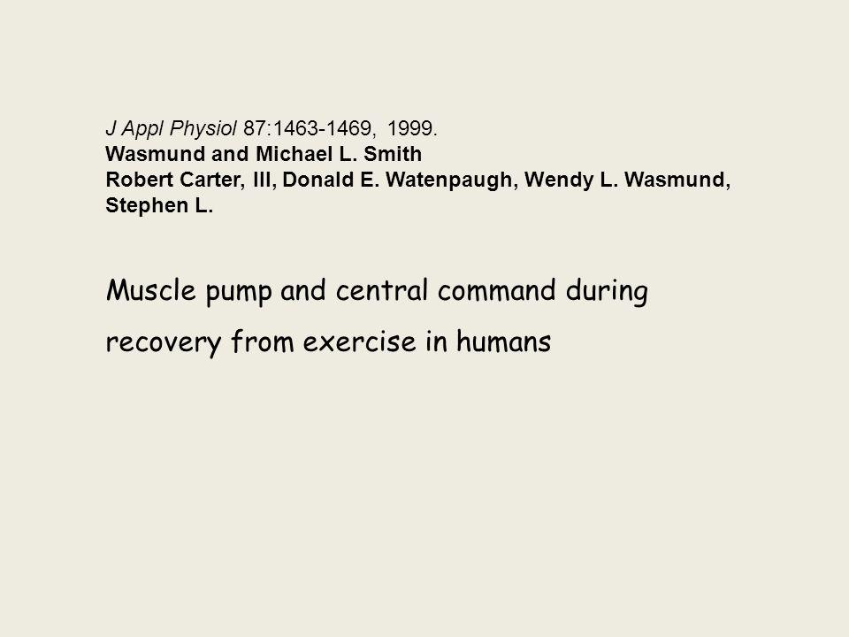 J Appl Physiol 87:1463-1469, 1999.Wasmund and Michael L.