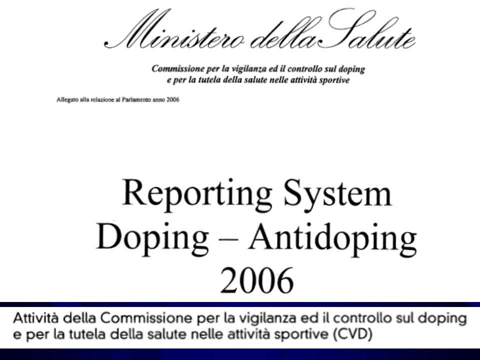 Controlli antidoping CVD nel 2006