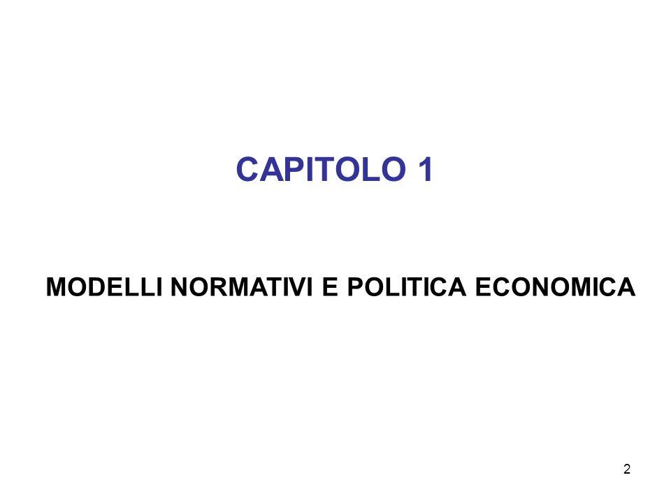 2 CAPITOLO 1 MODELLI NORMATIVI E POLITICA ECONOMICA