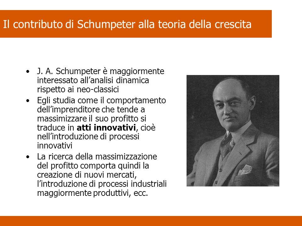 Il contributo di Schumpeter alla teoria della crescita J.