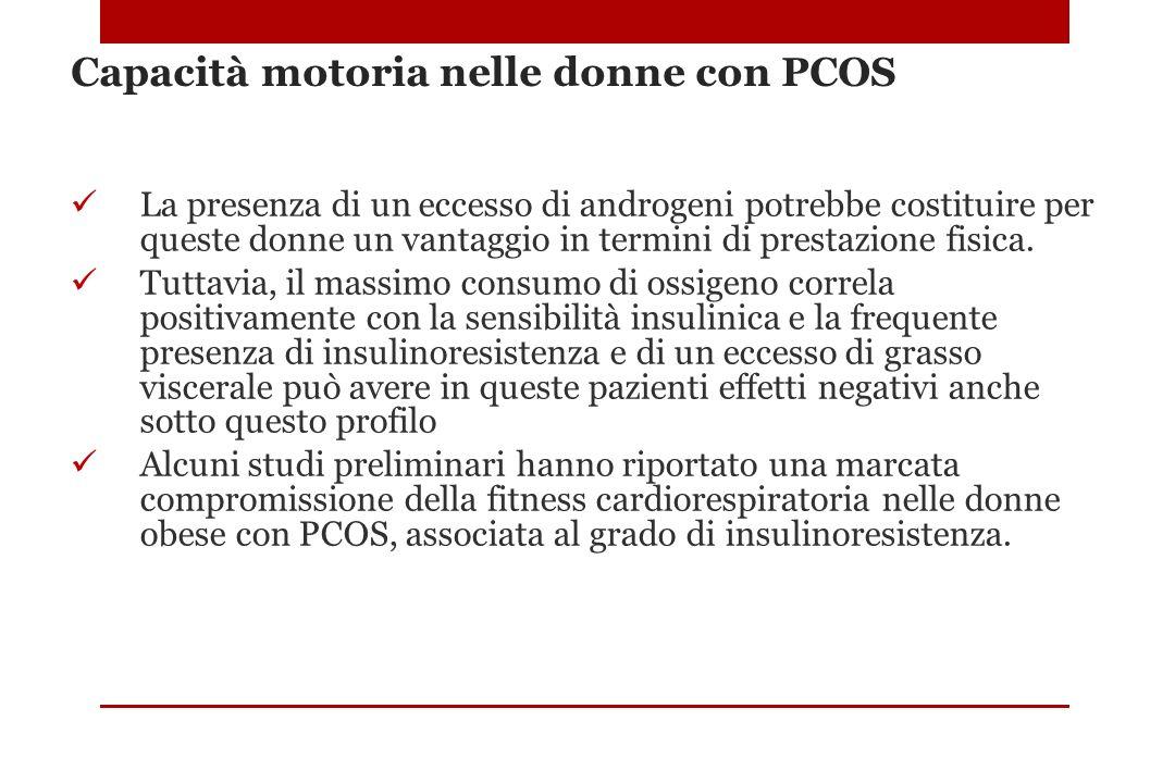 Capacità motoria nelle donne con PCOS La presenza di un eccesso di androgeni potrebbe costituire per queste donne un vantaggio in termini di prestazio