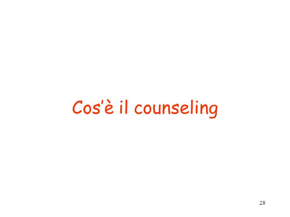 28 Cosè il counseling