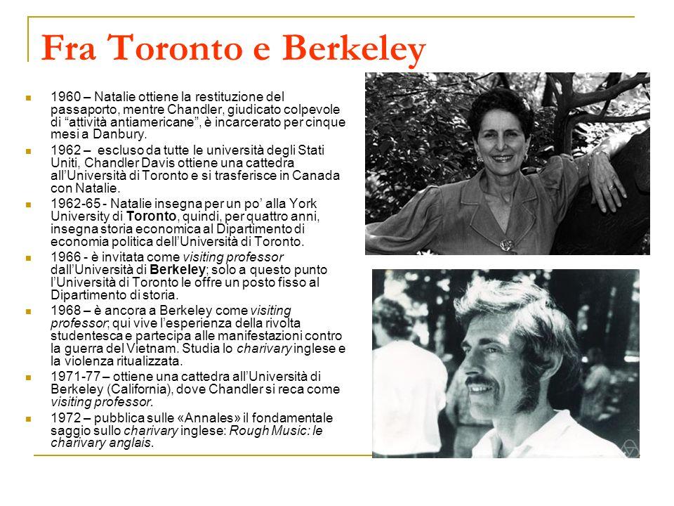 Fra Toronto e Berkeley 1960 – Natalie ottiene la restituzione del passaporto, mentre Chandler, giudicato colpevole di attività antiamericane, è incarc